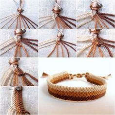 How to Weave DIY Simple Bracelet Woven bracelets are very p… - jewelry diy bracelets Diy Friendship Bracelets Patterns, Diy Bracelets Easy, Bracelet Crafts, Woven Bracelets, Crochet Bracelet, Simple Friendship Bracelets, Gold Bracelets, Macrame Bracelet Tutorial, String Bracelets