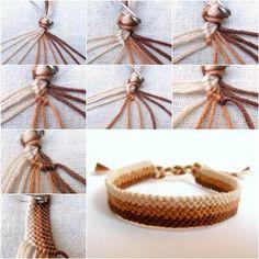 DIY Simple Woven Bracelet. Tutorial--> http://wonderfuldiy.com/wonderful-diy-simple-woven-bracelet/