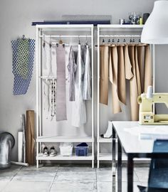 These New Multifunctional Furniture Collections Are Coming to IKEA in April Low Dresser, Furniture, Ikea Clothes Rack, Best Ikea, Coat Rack Ikea, Ikea, Furniture Collections, Multifunctional Furniture, Clothes Rack Closet