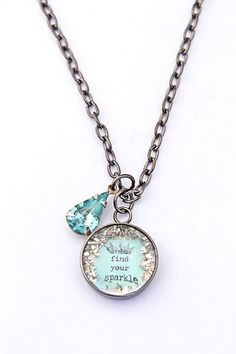 find your sparkle aqua necklace - $35.00 : Beth Quinn Designs , Romantic Inspirational Jewelry