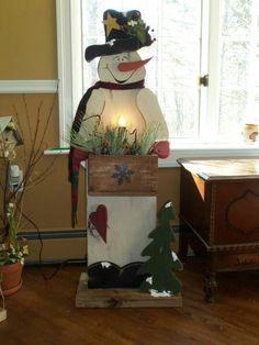 lighted snowmen