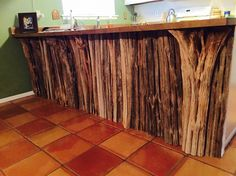 Saguaro cactus ribs to line the underside of a counter.