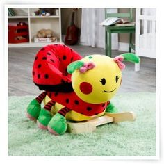 Lulu Ladybug with Sound Rocking Toy