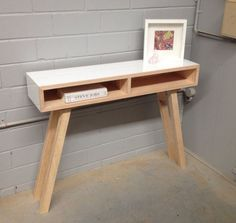 contemporary Hall Tables with Drawers   SKINNY DOLLY hall stand - midcentury modern side table, scandi console ...