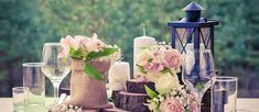 Your wedding dress, flowers & decor are all connected in color. The process of selecting wedding color combos can be a hassle, this guide will help. Lantern Centerpiece Wedding, Wedding Lanterns, Wedding Table Decorations, Wedding Table Settings, Decoration Table, Wedding Centerpieces, Wedding Lighting, Centerpiece Ideas, Diy Wedding