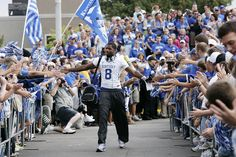 One major game day tradition is known as the Cat Walk, which is a path between Nutter Field House, where the team bus arrives, and Commonwealth Stadium, a distance of approximately 200 yards total. Fans line up along the Cat Walk route, and the team walks to the stadium from the bus among the cheering fans.