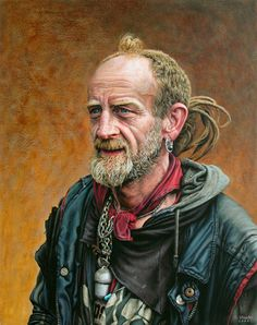 'Portrait Of Finney' , made by: David Stooke - (This looks like a mn who has an interesting story to tell)