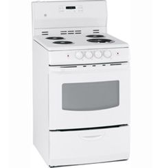 """JCAP750WMWW by General Electric Canada in Winnipeg, MB - GE 24"""" Free Standing Electric Self Clean Range Shop JS Furniture Gallery for all your appliance needs.  1725 Ellice Avnue, Winnipeg, http://furnitureandmore.ca"""