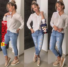 43 Latest Jeans Outfits Ideas For Spring Although jeans are a year-round part of our casual wardrobe, nothing beats the feeling of having a new pair as […] Spring Work Outfits, Spring Fashion Outfits, Fashion Pants, Fall Outfits, Cute Outfits, Trendy Fashion, Womens Fashion, Dinner Outfits, Dress Fashion