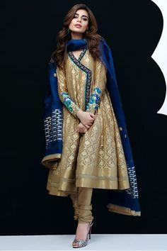 Stitching Styles Of Pakistani Dresses Golden Angrakha Style Pakistani Formal Dresses, Pakistani Wedding Outfits, Shadi Dresses, Pakistani Dress Design, Indian Dresses, Indian Outfits, Eid Dresses, Bridal Outfits, Shalwar Kameez