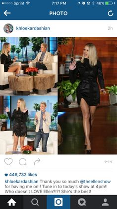 Khloe Kardashian short blond ombre hair at the Ellen show