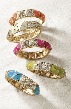 Cara Accessories Pyramid Stretch Bracelet | Nordstrom