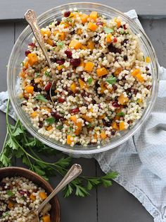 Autumn Couscous Recipe (inspired by a Whole Foods salad) @Heidi | FoodieCrush