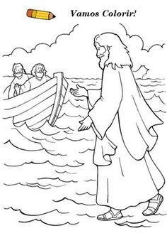 jesus water coloring page