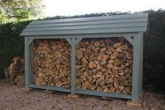 Wooden Log Store - By Touch Wood by Touch Wood… Firewood Shed, Firewood Storage, Shed Storage, Garden Buildings, Garden Structures, Log Shed, Log Store, Log Burner, Wood Working For Beginners