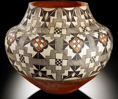 Infinity of Nations: Art and History in the Collections of the National Museum of the American Indian - George Gustav Heye Center, New York. Acoma polychrome jar. ca.1900-1920.