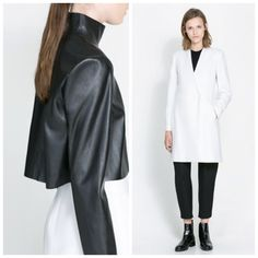 +mood: Black & white mood #fashion #look #white&black # moda #styling #positivemood #+mood #zara
