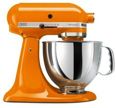 Frugal Girls Giveaway: Tangerine KitchenAid Mixer! - I want this color!!! Perfect for pumpkin pie and all autumn baking.