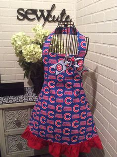 Cubs apron by Sewcutesewing1 on Etsy