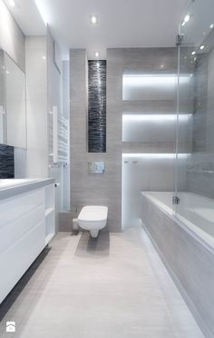 Łazienka styl Nowoczesny - zdjęcie od All Design Agnieszka Lorenc - Łazienka… Modern Bathrooms Interior, Contemporary Bathrooms, Bathroom Interior Design, Modern Interior Design, Best Bathroom Designs, Bathroom Design Small, Bad Inspiration, Bathroom Inspiration, Wc Design