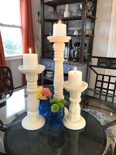 Table Leg Candle Holders   Hometalk