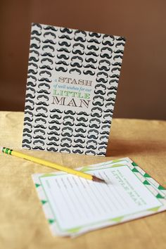 Little Man Baby Shower Invitations and Details by Atheneum Creative via Oh So Beautiful Paper (2)