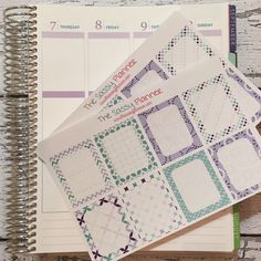 NEW! April Monthly Write-On Full Box Stickers for Erin Condren Life Planner/Plum Paper Planner - Set of 16