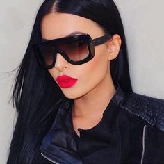 Oversized Sunglasses Women Rivet Brand Designer Celebrity Kim Kardashian Sexy Sun Glasses for Women Flat Top Ladies Female Kourtney Kardashian, Robert Kardashian, Kardashian Style, Luxury Sunglasses, Oversized Sunglasses, Women's Sunglasses, Sunnies, Sunglasses Online, Luxury Watches