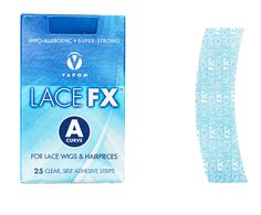 Lace FX A Curve For Lace Wigs & Hairpieces 25 Clear, Self Adhesive Strips