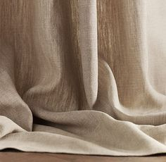Textured Belgian Linen Drapery - like the ease of opening/closing drapes in master. good to block light at night. drapes look pretty too - soften the space. Grey Linen Curtains, Curtains Living, Lined Curtains, Cafe Curtains, Curtain Fabric, Sheer Curtains, Curtain Panels, Bedroom Curtains, Linen Fabric