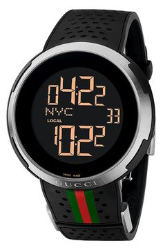 Gucci 'I Gucci' Rubber Strap Watch available at #Nordstrom