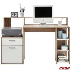 Computer Desk Design, Computer Desks For Home, Home Desk, Home Office Furniture, Furniture Design, Teenage Room Decor, Bureau Design, Teen Desk, Study Table Designs