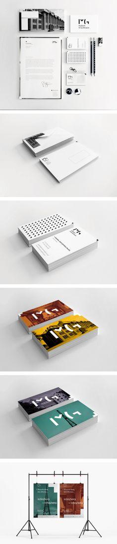 Gliwice Museum Visual Recognition Spécifiquement les cartes d'affaires qui démontre une couleur et l'architecture tout en mettant l'accent sur le logo