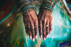 Indian wedding photography at Charlotte, NC Westin Hotel henna on hands