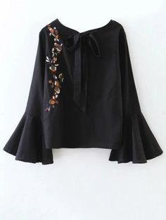 SHARE & Get it FREE | Cut Out Flare Sleeve Floral Tied BlouseFor Fashion Lovers only:80,000+ Items • New Arrivals Daily Join Zaful: Get YOUR $50 NOW!