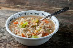 Slow Cooker Chicken Barley Soup - Framed Cooks