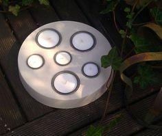 BETON-Teelichthalter rund für 6 Teelichter von BETON-Style auf DaWanda.com