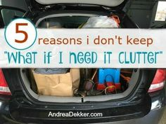 """Do you struggle to purge items you think you MIGHT need again? I call this """" What-if-I-need-it-clutter"""". Here are 5 tips to purge it all now! Thermal Hotel, Clutter Organization, Organizing, Old Baby Clothes, Local Thrift Stores, Toy Bins, Work Stress, Sleep Problems, Slipcovers"""