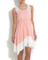 pretty soft pink dress...flattering to any figure