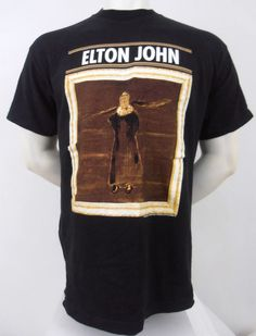 Vintage Elton John The Big Picture Concert Tour 1997 Shirt Size L Black #Polygram #GraphicTee