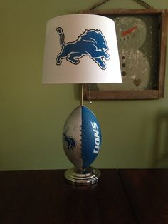 Detroit Lions football lamp by thatlampguyGraz on Etsy