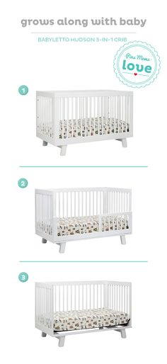 Create a stylish, modern nursery with the Babyletto convertible crib.