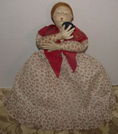 "Vintage Cloth Russian Tea Cozy Doll 18"" Tall Circa 1930's"