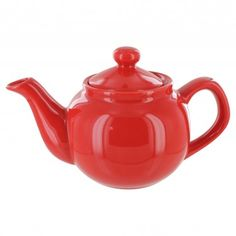 English Tea Store Brand 2 Cup Teapot - Red Gloss Finish solid color tea pots