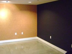 """Corkboard wall and magnetic blackboard wall! This would be awesome in our """"classroom"""" for homeschool!"""