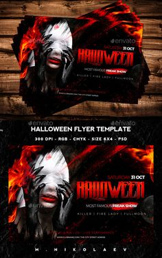 Halloween Flyer Template PSD #design Download: http://graphicriver.net/item/halloween-flyer/12947178?ref=ksioks