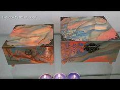 COMO HACER UN MARMOLEADO SOBRE MADERA - YouTube Ideas Para, Decoupage, Youtube, Diy, Crafts, Painting, Decorated Boxes, Ideas, Craft