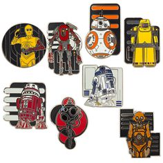 Star Wars: The Force Awakens Droid Mystery Pin Set