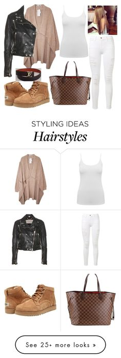 """""""Untitled #2226"""" by outfitstowear on Polyvore featuring UGG Australia, Frame Denim, Burberry, M&Co and Louis Vuitton"""