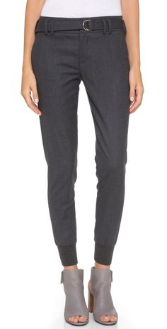 Vince Belted Rib Cuff Jogger Pants   SHOPBOP